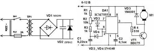 схема частотного регулятора оборотов трехфазного ...